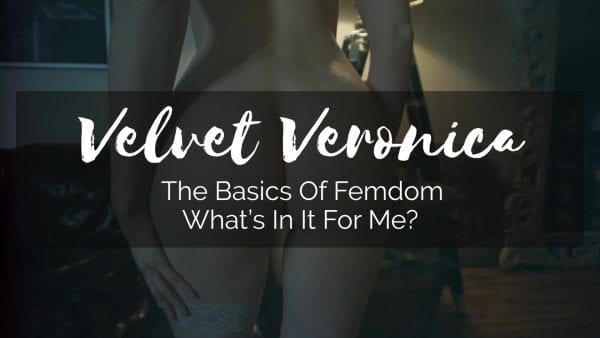 the benefits of femdom video title with naked woman's ass in camera